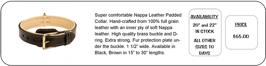 Nappa Padded Collar
